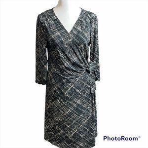 Motherhood Maternity Black and Cream Wrap Dress